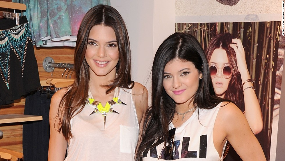Jenner sisters Kendall and Kylie debut a new collection at PacSun NYC Pop Up Shop on August 6.