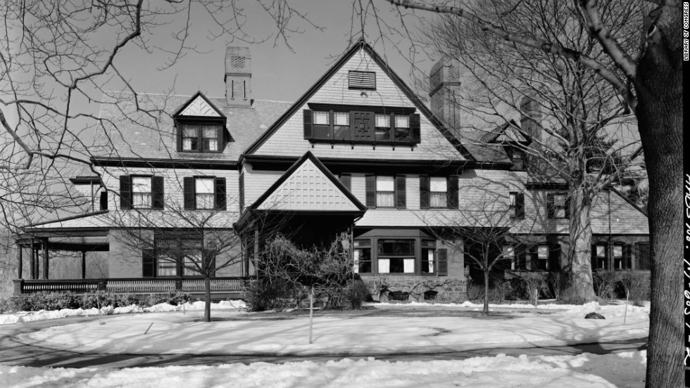 President Theodore Roosevelt's Sagamore Hill home, in Oyster Bay, New York, often served as his vacation retreat.