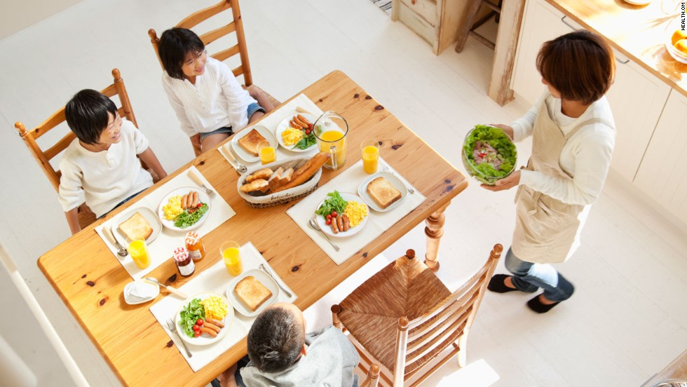Eat dinner together every night. This simple ritual improves not just kids' eating habits but their grades and willingness to open up to you, too.