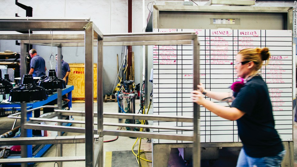 "<a href=""http://www.barnlightelectric.com/"" target=""_blank"">Barn Light Electric Company</a> grew from a couple's interest in antique lighting fixtures. Its husband-and-wife founders left their jobs to expand the company, which has helped to keep jobs in their hometown of Titusville, Florida."