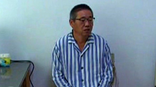 The American, Kenneth Bae is seen in a North Korean hospital room earlier this year.