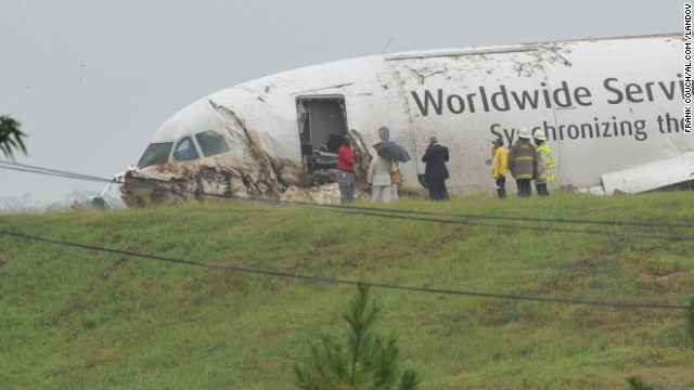 A UPS cargo plane crashed near a Birmingham, Alabama, airport on August 14, 2013.