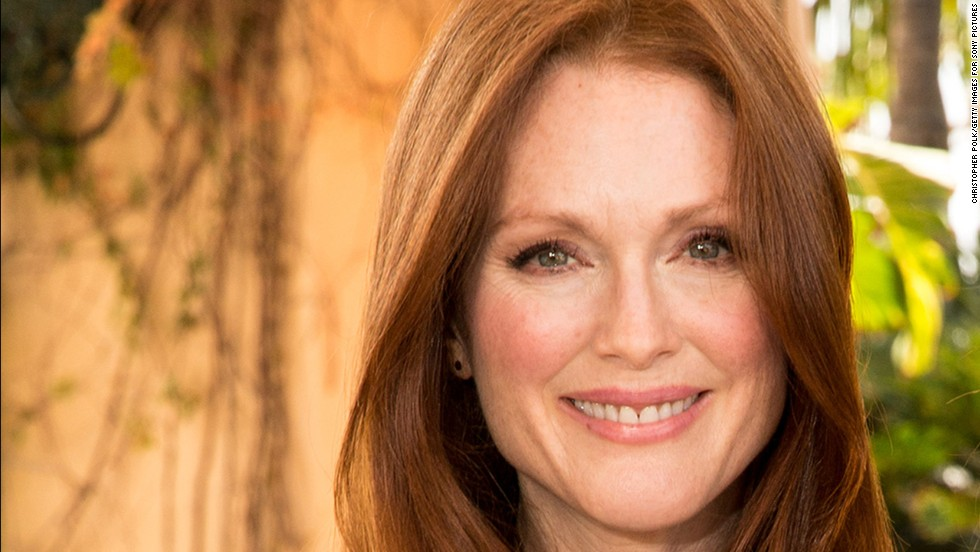 Julianne Moore is a ginger haired beauty at 53.