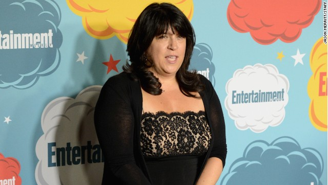 E. L. James attended a Comic-Con event in San Diego, California in July 2013.