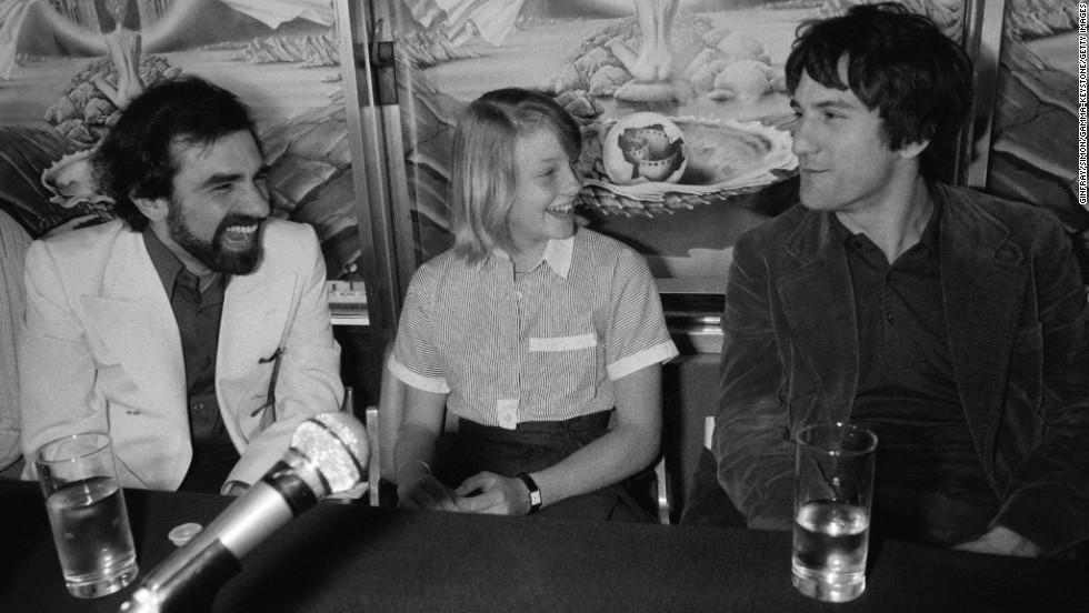 "De Niro has worked frequently with director Martin Scorsese, left. Here, Scorsese, De Niro and Jodie Foster present ""Taxi Driver"" at Cannes in 1976. The film won the top prize, the Palme d'Or, at the festival."