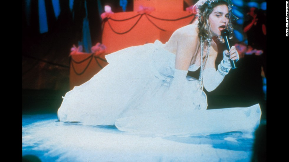 "During the first MTV Video Music Awards in 1984, Madonna set the bar with her performance of ""Like a Virgin"" in a low-cut wedding gown."
