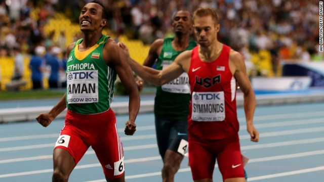 Nick Symmonds won a silver medal in the 800 meters at the world championships.
