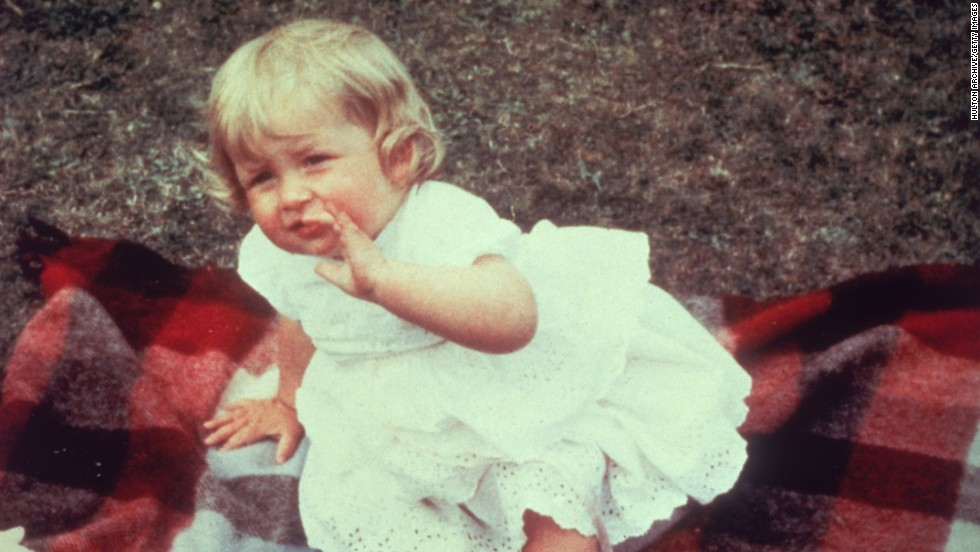 Diana, seen here on her first birthday, was born Diana Frances Spencer on July 1, 1961. She was born into a noble family in Sandringham, England. Her father, John, was Viscount Althorp before becoming the 8th Earl Spencer in 1975.