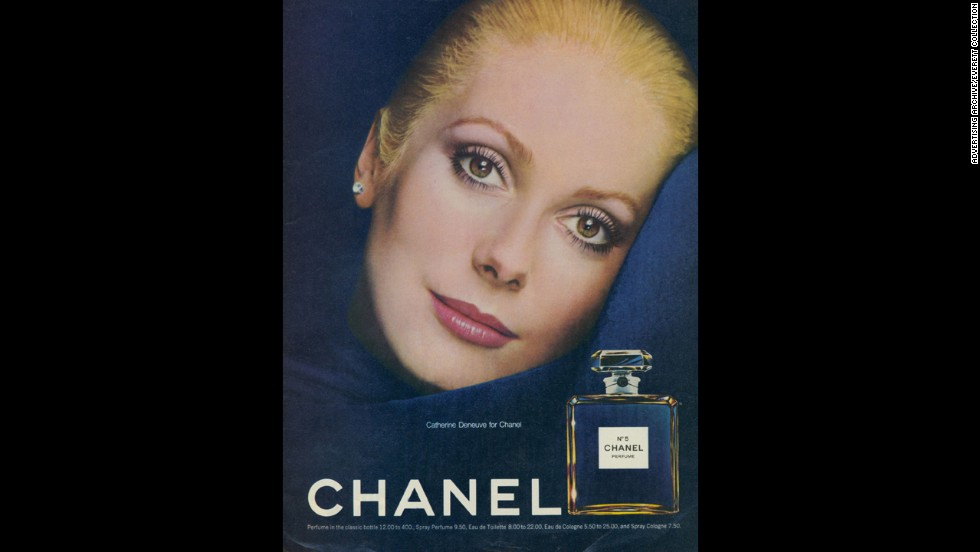 "Actress Catherine Deneuve appeared in <a href=""http://www.youtube.com/watch?v=TGVNGoMXE2c"" target=""_blank"">film and print advertisements</a> for the storied fragrance in 1973."