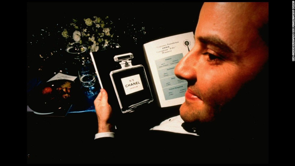 A bottle of Chanel No. 5 is pictured on the program for the Fragrance Foundation Awards in 1998.