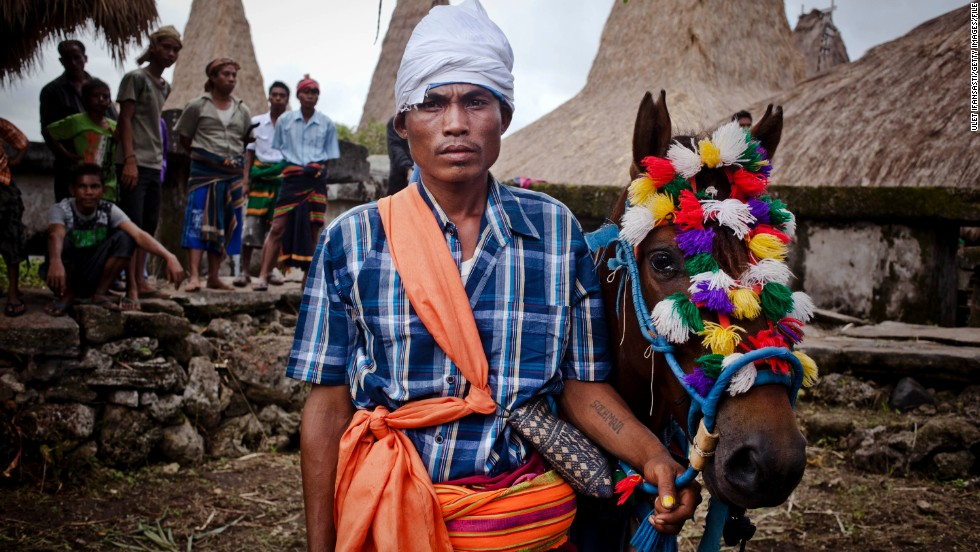 Head to the island of Sumba in Indonesia and you'll find a far more tropical climate at the Pasola Festival. Gutsy horsemen use blunt spears in a ritual battle believed to boost crops.