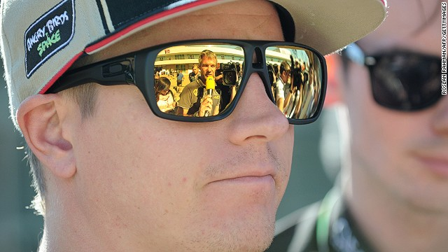Kimi Raikkonen likes to do his talking on the race track. The Finn is currently second in the F1 drivers' championship.