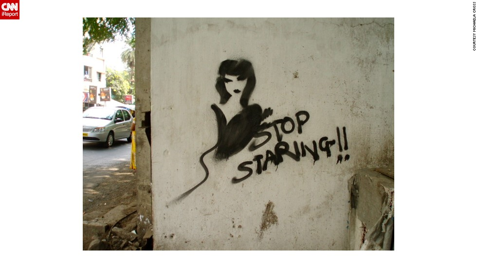Graffiti found on the streets of Pune, where the India study abroad program took place.