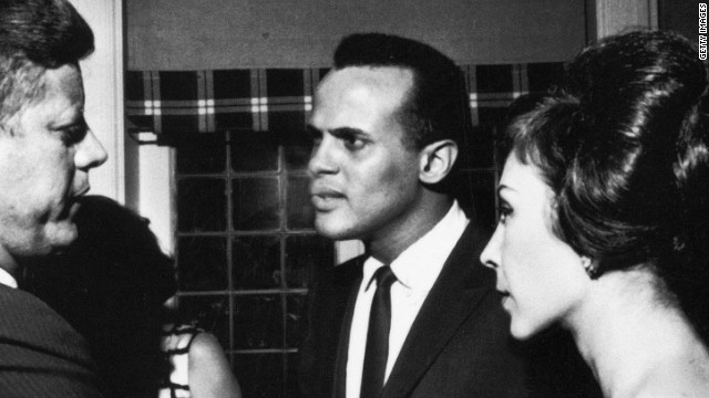 Harry Belafonte is a longtime activist. Here, he speaks with President  Kennedy about the March on Washington.