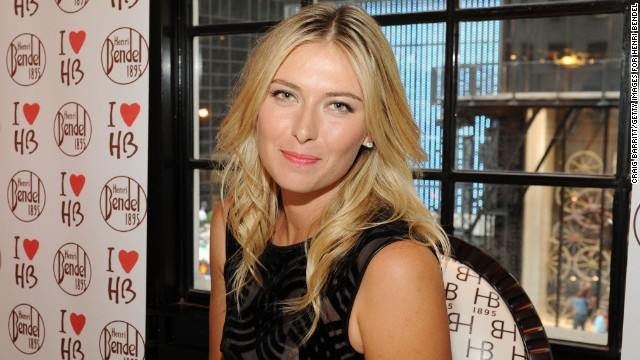 World No. 3 Maria Sharapova was promoting her range of candy in New York ahead of the tournament.
