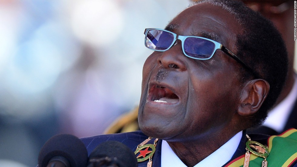 Robert Mugabe was sworn in for another term as President of Zimbabwe in August 2013, aged 89. Mugabe is Africa's oldest leader and led  Zimbabwe first as prime minister from 1980, then as president from 1987.