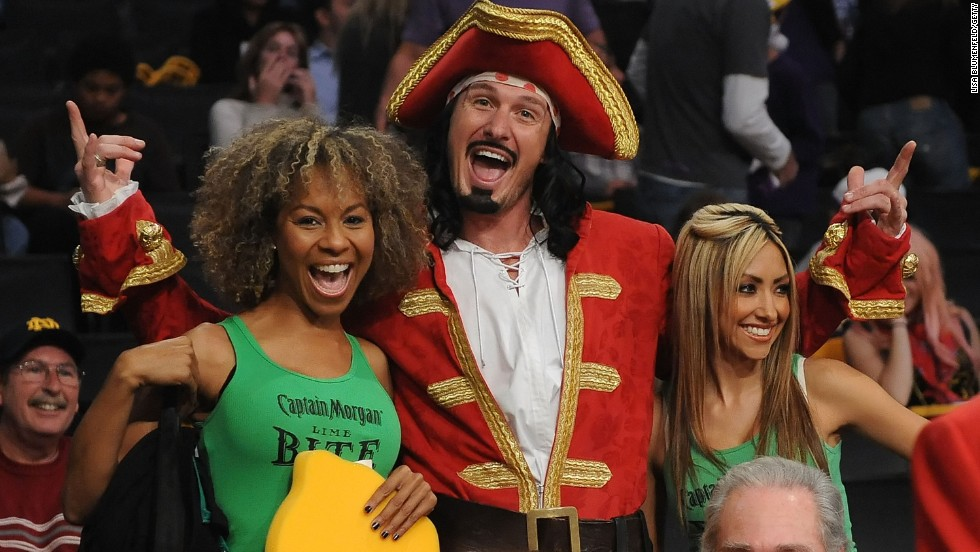 Captain Morgan: To life, love, and loot. And hot chicks at the Lakers game.