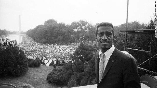 Sammy Davis Jr. was among the celebrities at the March on Washington. Bond recalls serving him a Coca-Cola.