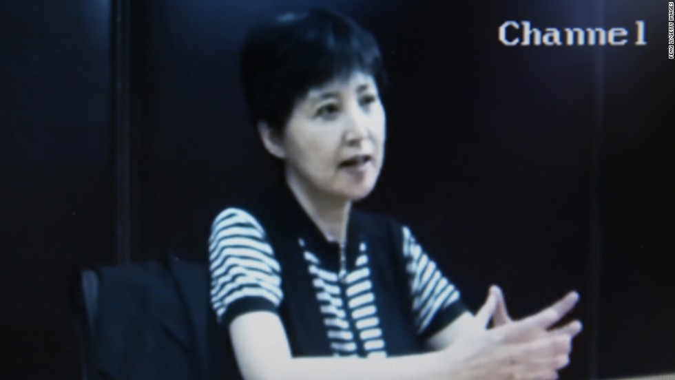 Bo's wife, Gu Kailai, is pictured in video testimony aired during the trial on Friday, August 23.