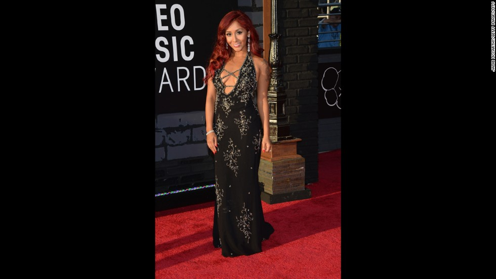 "Nicole 'Snooki' Polizzi of  ""Jersey Shore"" fame arrives at the MTV Video Music Awards in August."
