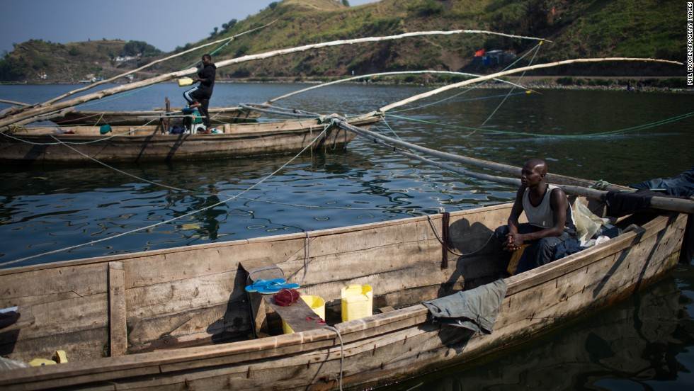Congo has more than half of Africa's water reserves and is home to four of the continent's great lakes, including Lake Kivu, pictured.