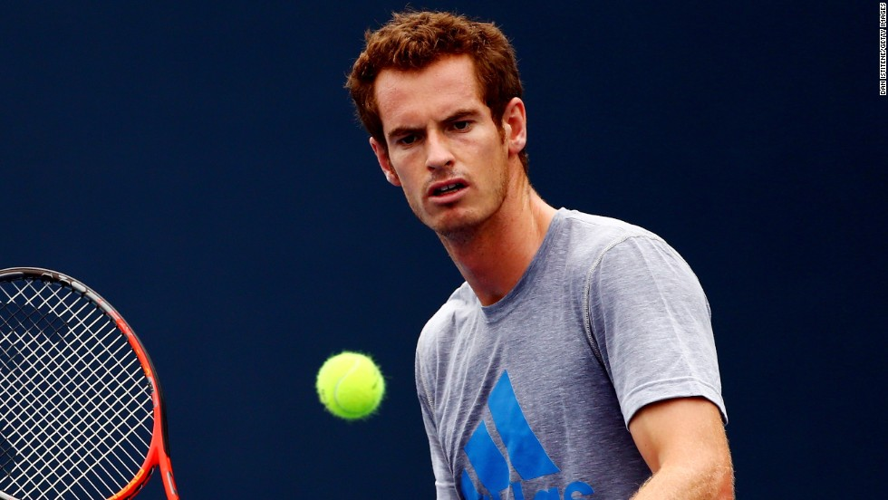Murray didn't play Monday but he practiced ahead of his first-round match against French veteran Michael Llodra. Murray potentially needs to beat Novak Djokovic and Rafael Nadal to repeat in New York.