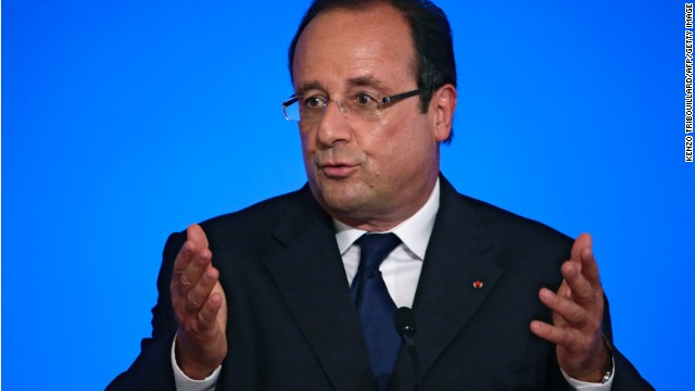 France's president Francois Hollande delivers a speech during the Conference of French ambassadors abroad, on August 27, 2013 at the Elysee palace in Paris. AFP PHOTO POOL/ KENZO TRIBOUILLARD (Photo credit should read KENZO TRIBOUILLARD/AFP/Getty Images)
