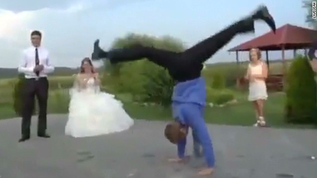 Russia wedding reception takes epic turn