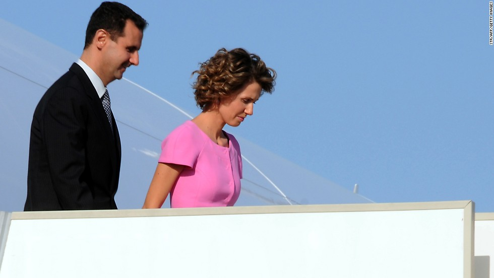 The first couple arrive in the capital of Tunis, Tunisia, on July 12, 2010.