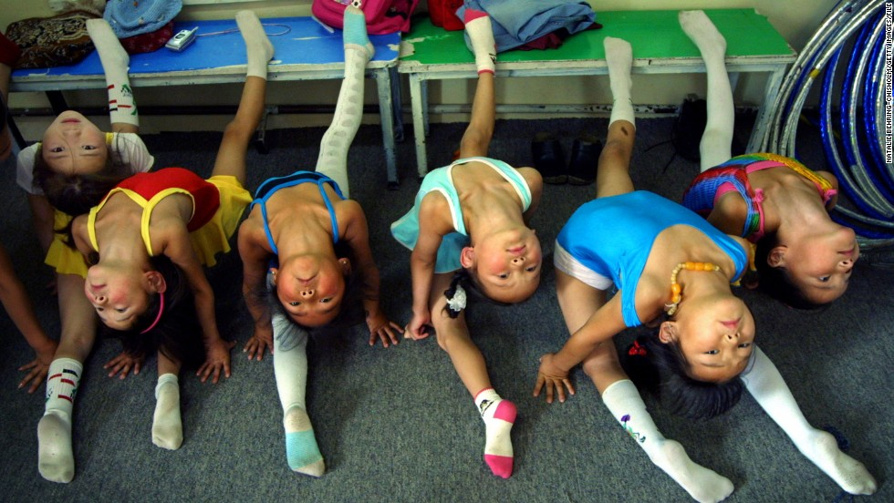 The road to circus stardom starts early in Mongolia, with children as young as five training up to three hours a day with organizations such as the Mongolian State Circus (pictured).