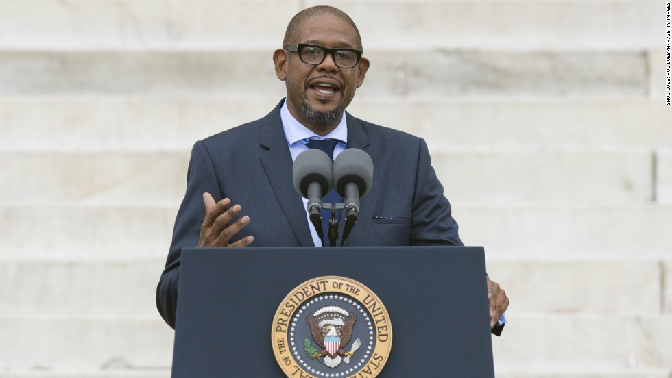 Actor Forest Whitaker speaks.