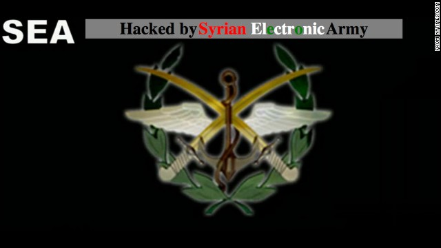 Users who tried to access NYTimes.com Tuesday encountered error messages or web pages from the Syrian Electronic Army.