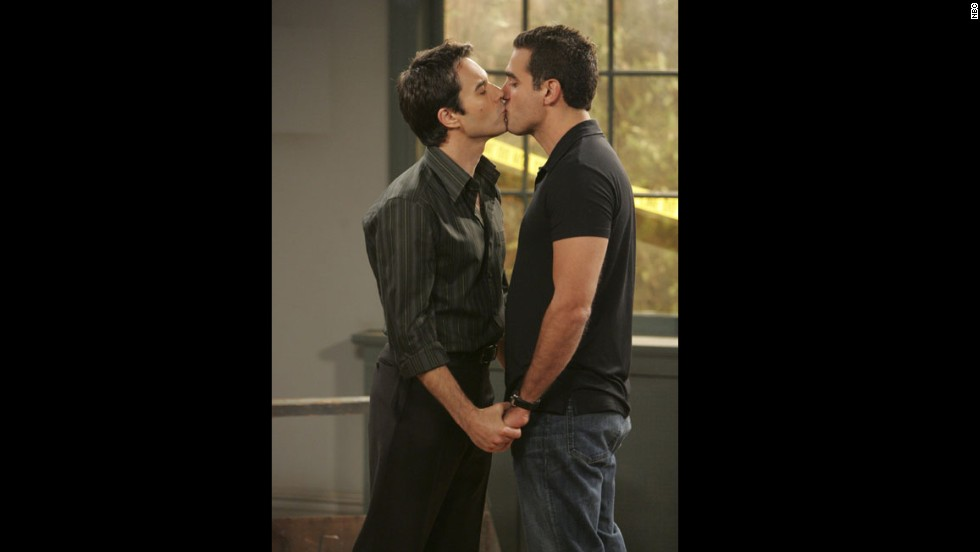 'Will and Grace': Eric McCormack and Bobby Cannavale as Will Truman and Vince D'Angelo. Their son Ben appeared in the series finale, marrying Grace's daughter, far in the future.