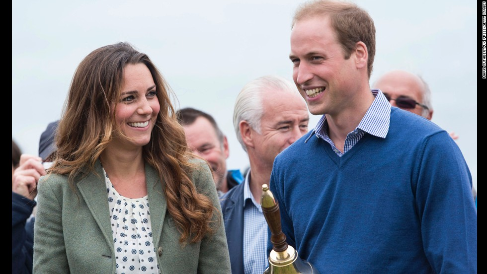 Kate and Prince William start the Ring O'Fire Anglesey Costal Ultra Marathon In Holyhead, Wales, on Friday, August 30. It was Kate's first public appearance since the birth of Prince George.
