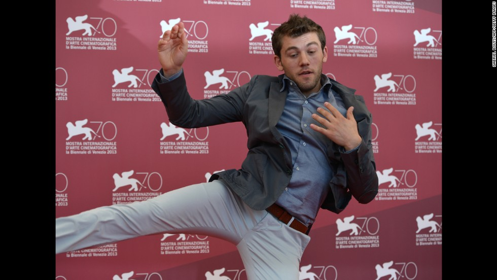 "Vladimir Doda, here at the festival, stars in ""Piccola Patria,"" presented in the Orizzonti selection on August 30."