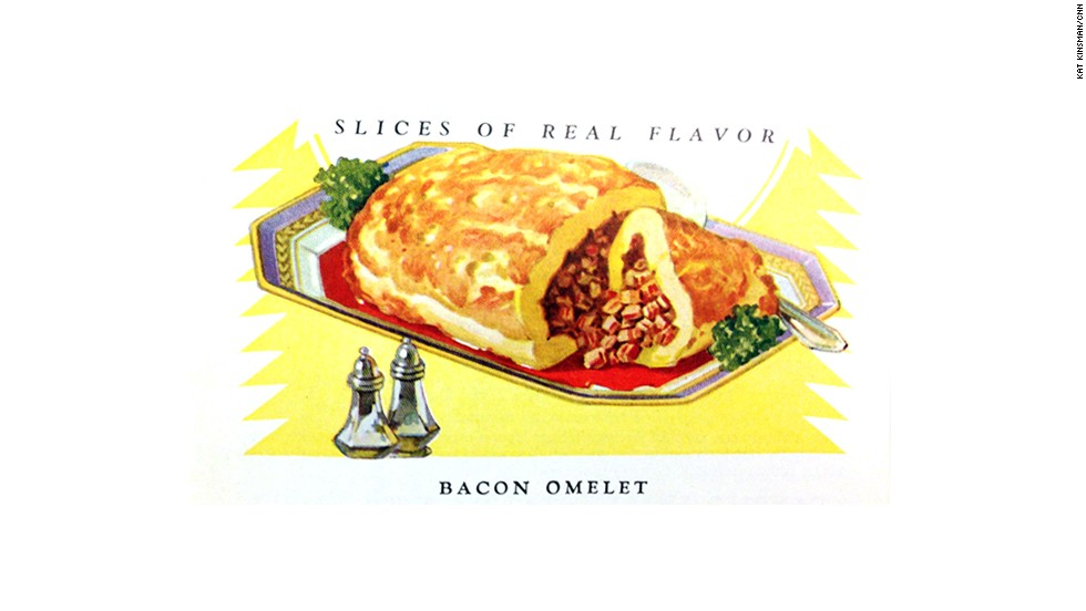 Bacon Omelet: Slices of Real Flavor, Armour and Company (1925) -- a promotional pamphlet touting the wonders of Star Bacon.