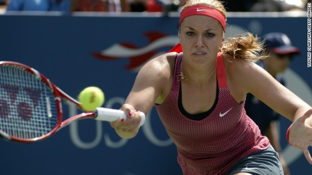 Sabine Lisicki succumbed to 25th seed Ekaterina Makarova of Russia in the third round of the U.S. Open at Flushing Meadows.
