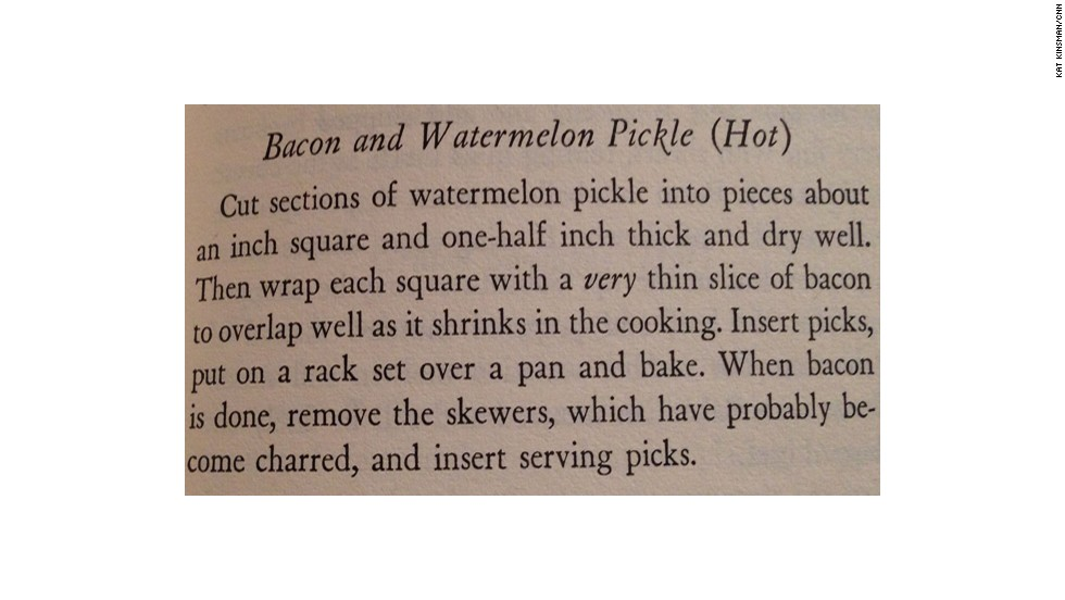 Bacon Watermelon Pickle: A Book of Hors d'Ouevre by Lucy G. Allen (1941)