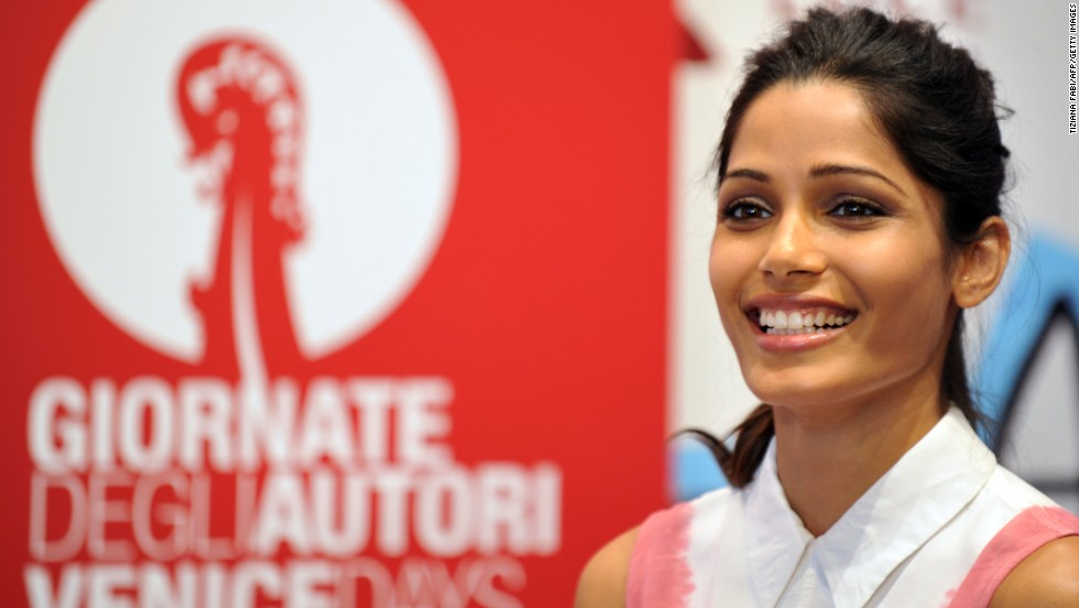 Indian actress Freida Pinto takes part in the Miu Miu Women's Tales on August 31.