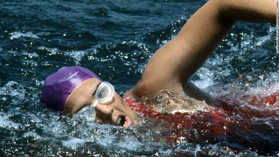 "Diana Nyad swims along Florida's Gold Coast in July 1978. On her fifth attempt, Nyad, now 64, became <a href=""http://www.cnn.com/2013/09/02/world/americas/diana-nyad-cuba-florida-swim/index.html"">the first person to swim the 103 miles from Cuba to Florida</a> without a shark cage. The endurance swimmer achieved her lifelong ambition of conquering the Straits of Florida on Monday, September 2, after four earlier setbacks."