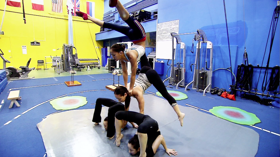 Of the show's 20 contortionists, almost all are women, and almost all hail from one country: Mongolia.