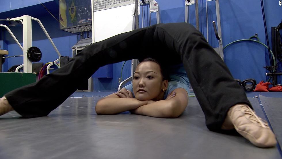 The Cirque du Soleil contortionists train for up to three hours-a-day in preparation for their spectacular show.