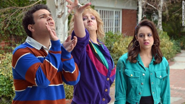 "TROY GENTILE, WENDI MCLENDON-COVEY, HAYLEY ORRANTIA  star in ""The Goldbergs."""