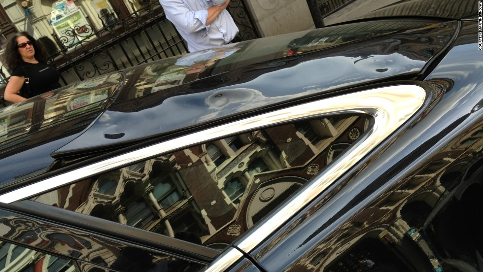 Martin Lindsay's Jaguar XJ was damaged by the bright light reflected by the skyscraper.