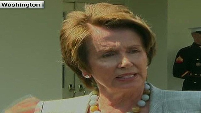House Minority Leader Nancy Pelosi backs Obama on Syria