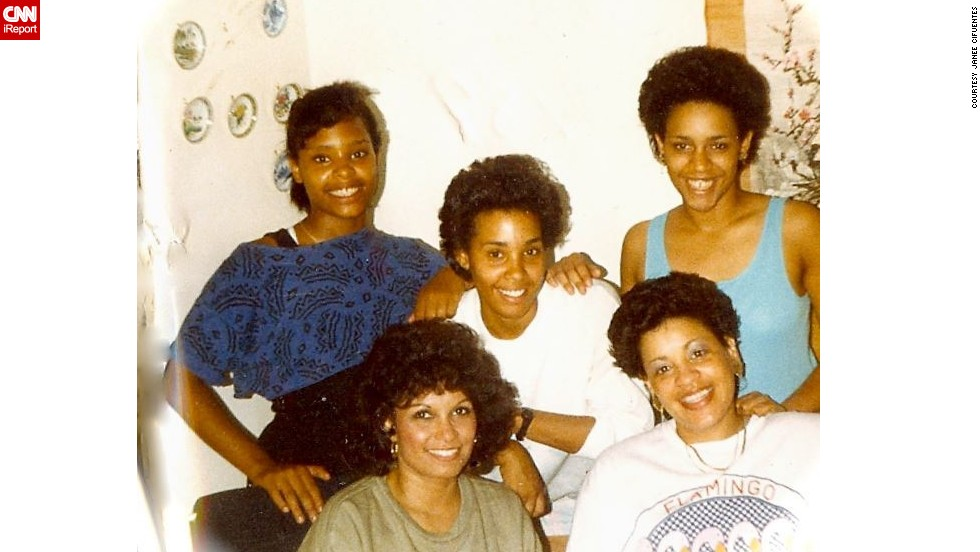 "<a href=""http://ireport.cnn.com/docs/DOC-1030612"">Janee Blackwell Cifuentes</a>, on the left in black and blue, spent her teen years in Wheaton, Illinois. The decade brought many firsts for blacks, she wrote. ""Martin Luther King's birthday was made a holiday. Harold Washington was the first black mayor of Chicago. Vanessa Williams was the first black Miss America and that was opening the doors for a lot of black homecoming queens."" There were two or three black girls on her high school pom-pom squad. ""To me, that was a big deal."""