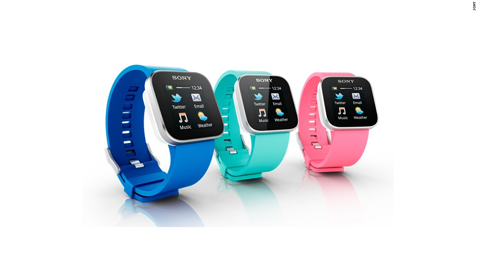 A full-color touch screen device, the $130 Sony SmartWatch only syncs with Android devices. When paired with a phone over Bluetooth, it can receive notifications for email, texts, social networks and calendars.