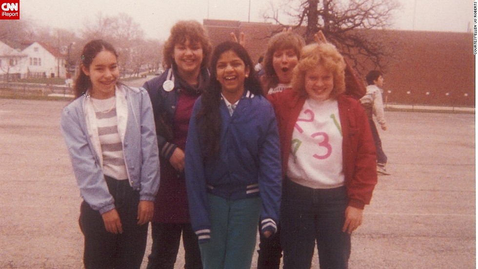 "This picture was tucked in the pages of <a href=""http://ireport.cnn.com/docs/DOC-1031398"">Ellen Jo Roberts</a>' eighth grade autograph book from 1985. She was the photographer, and they were her best friends, all eighth graders in a Chicago Public Schools gifted program, studying Latin, logic and philosophy and literature. ""We were nerds. Though, in our own way, we felt cool, different, magnetic, with our big, adult ideas. My favorite things in 1985 were: roller skating, the Chicago Cubs, drawing cartoons and writing stories, and going on city expeditions with my younger brother via public transportation."""