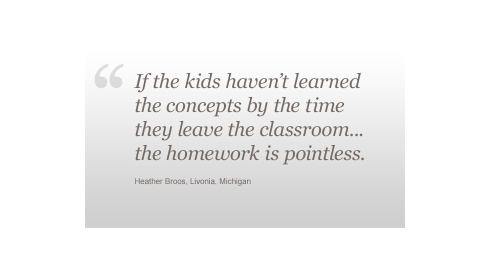 Homework Heather Broos quote