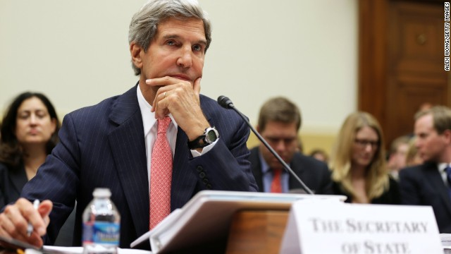 U.S. Secretary of State John Kerry testifies during a hearing on 'Syria: Weighing the Obama Administration's Response' before the House Foreign Affairs Committee September 4, 2013 on Capitol Hill in Washington, DC.